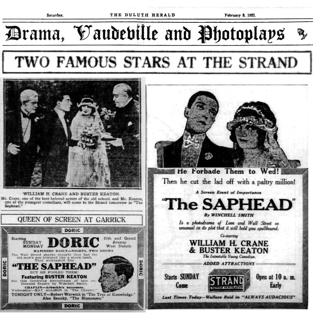 Silent Movie by RoyalMan, Bustor Keaton, The Saphead